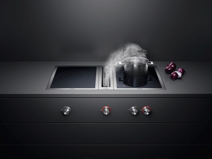 The downdraft ventilation VL 414 is a smart alternative to the traditional hood and ideal for open-plan kitchens and cooking islands. Whether surface or flush-mounted, it pulls vapours and odours down and away quietly and efficiently.