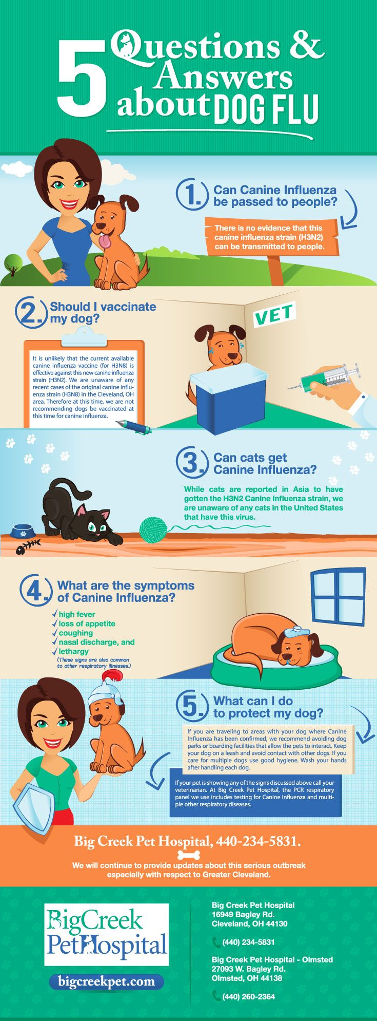 What should you be looking for regarding Dog Flu? http://www.bigcreekpet.com/five-questions-and-answers-about-canine-influenza-in-cleveland-oh/?utm_source=pinterest&utm_medium=social&utm_campaign=dogflu&utm_term=organic&utm_content=dog-flu-pin