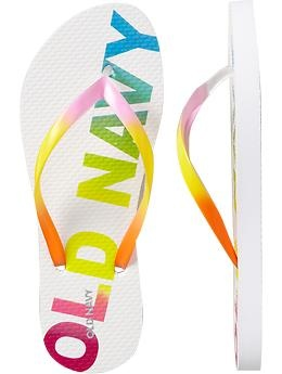 Old navy flip flops always provide a POP ::: Old Navy Flip Flops are the BEST! (: I love them in every color