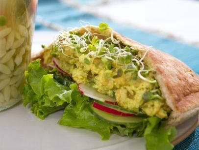 "Chickpea Salad Sandwiches (Trisha Goes to Boot Camp) - Trisha Yearwood, ""Trisha's Southern Kitchen"" on the Food Network."