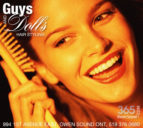 Guys and Dolls Hairstyling promo, designed by hi-octanecreative.com