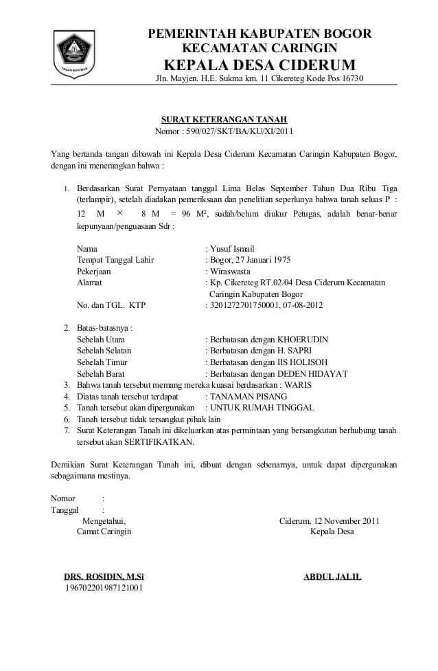 7 Contoh Surat Keterangan Asal Usul Untuk Berbagai Keperluan Surat Motivasi Bisnis Pemerintah