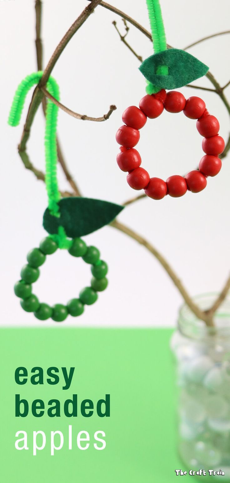 Awesome Kids Art And Craft Ideas Part - 14: Easy Apple Craft For Kids