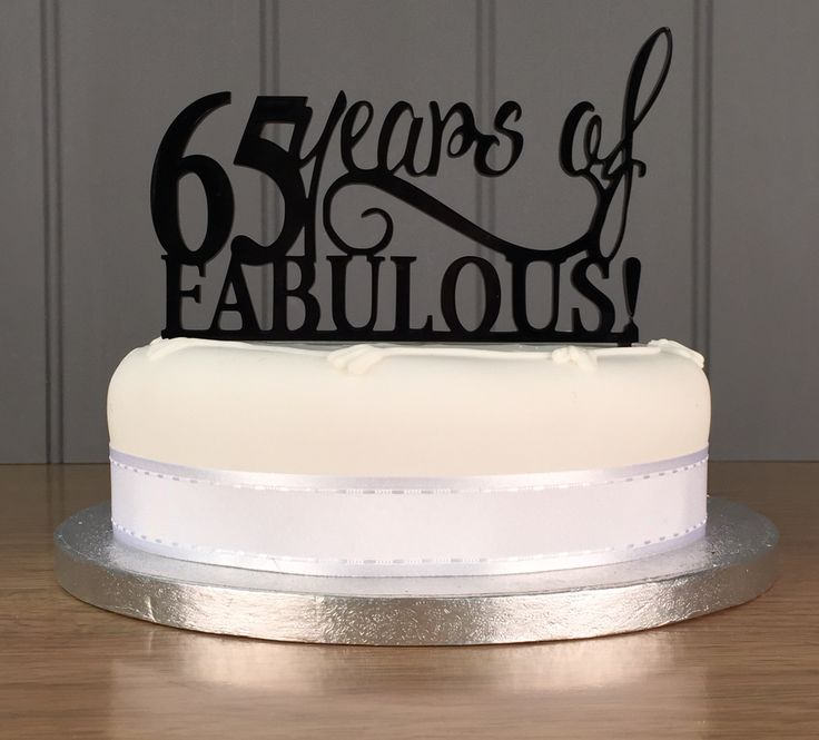 Handmade 65th birthday cake topper available to order from my Etsy page!