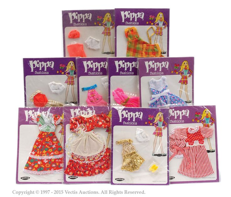 Palitoy Pippa Doll Carded Outfits | Pippa Doll | Vectis Toy Auctions