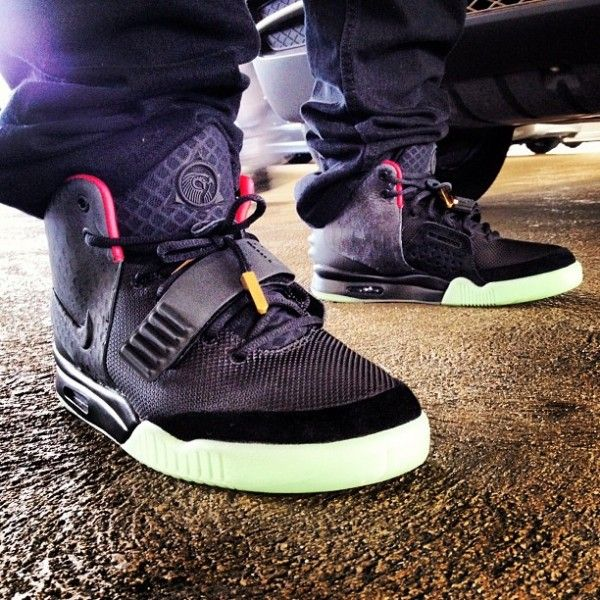 Nike Air Yeezy 2 Black Solar Red