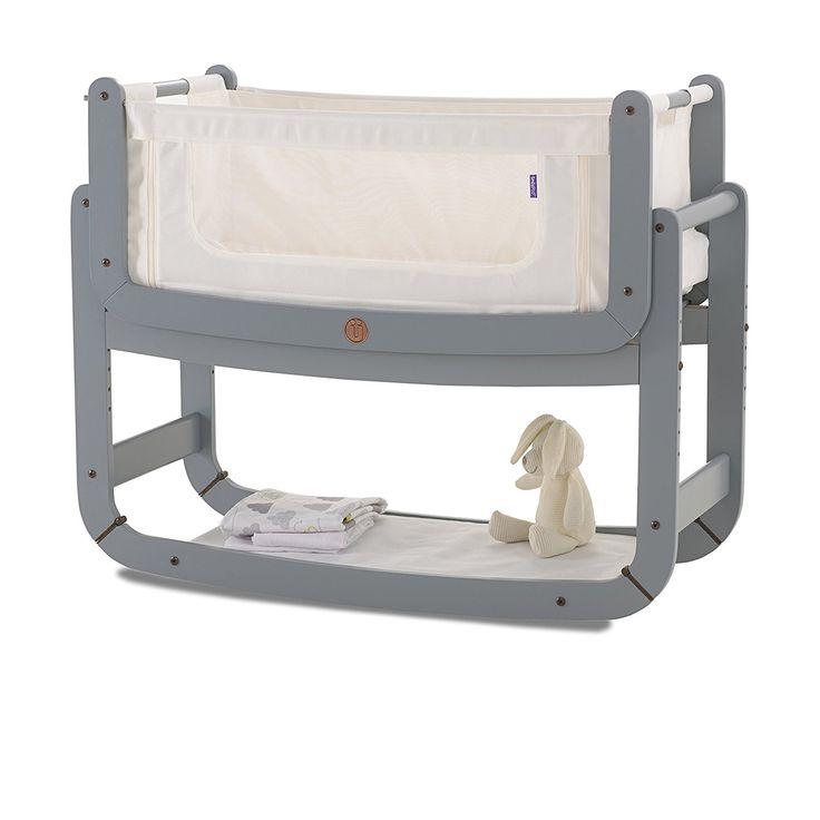 SnuzPod Bedside Crib and Mattress (Dove Grey): Amazon.co.uk: Baby