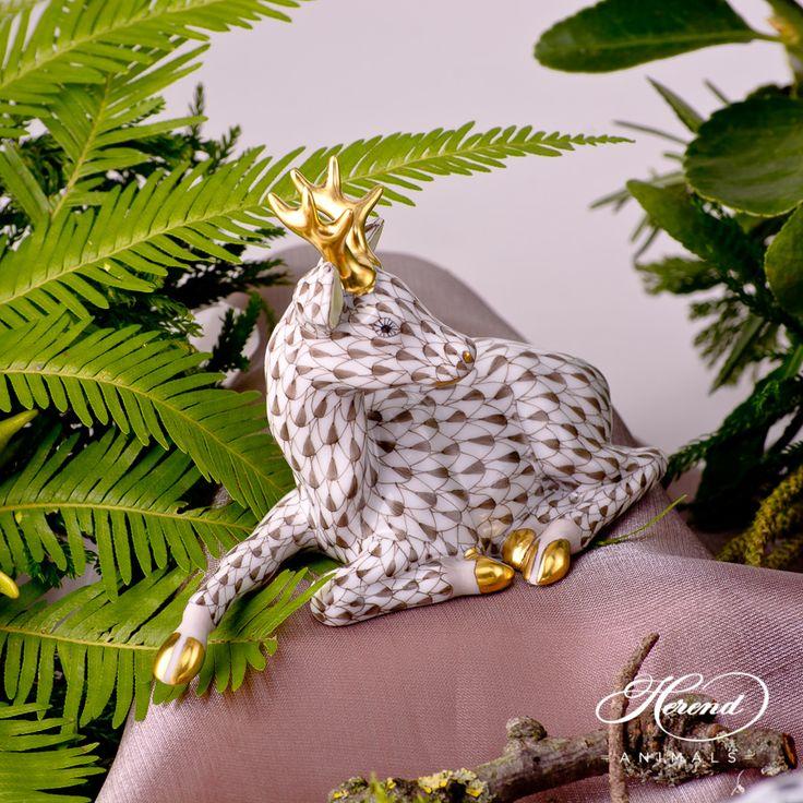 Roe Buck - Herend Animal Figurine 15589-0-00 VHBR1 - Brown