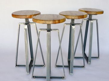 Industrial Channel Iron Stool By Nyen Designs Contemporary Bar Stools  And Counter
