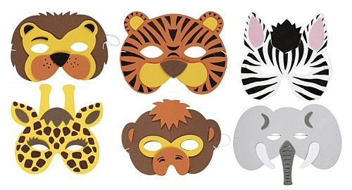 Free printable animal masks templates animal mask each for Woodland animal masks template