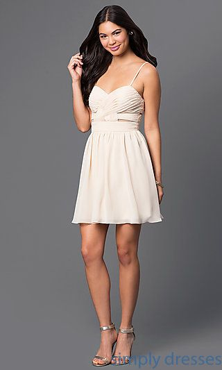 Shop nude cocktail dresses and wedding-guest dresses at Simply Dresses. Party dresses and short semi-formal dresses for under $100.