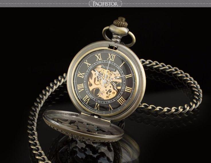 PACIFISTOR Vintage Taschenuhr Alter Kupfer Skelett Uhr Damen Herren Delphin NEU | eBay