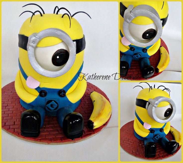 Minion banana - by Ms.K Cupcakes @ CakesDecor.com - cake decorating website