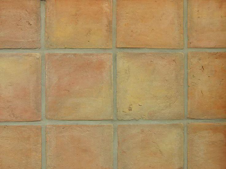 Originale Handform Cotto Terrakotta Bodenfliesen 40x40x3
