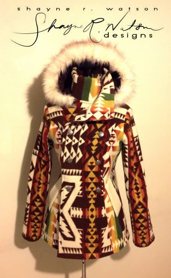 coat, Shayne Watson Designs (Diné) | eff yeah indigenous fashion!