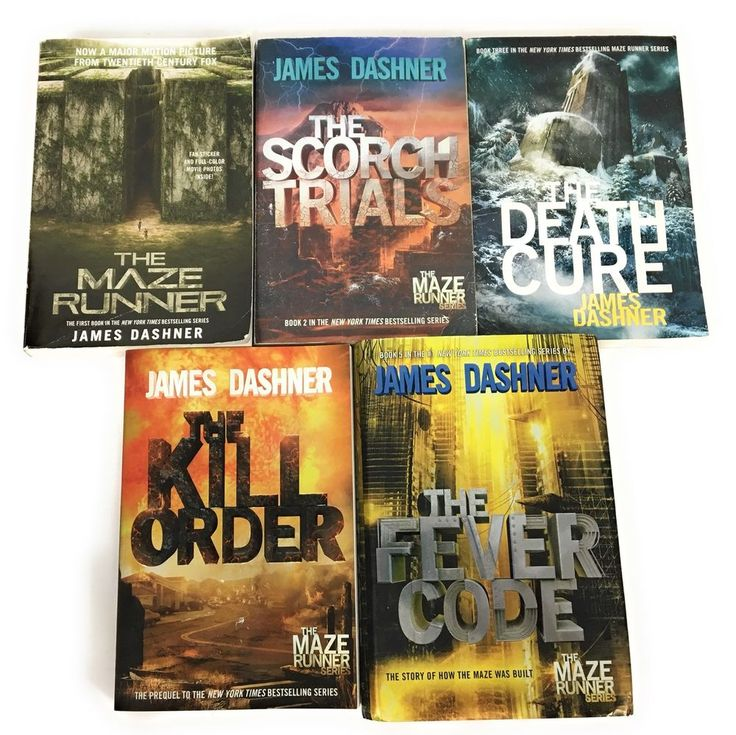 Lot 15 maze runner complete series book set james dashner