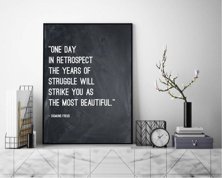 Excited to share the latest addition to my #etsy shop: Years Of Struggle - Sigmund Freud Quote. Wall Art, Art Print, Typography Poster, Black and White, Scandinavian Art, Minimalist #art #letterpress #print #quote #life