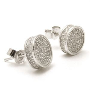 Silver, Gold, and Diamond Jewellery - Morika Jewellery-#SterlingSilver Round Shape Cluster #StudEarrings set with White CZ stones.