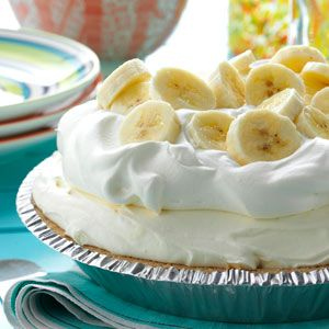 Old-Fashioned Banana Cream Pie - This fluffy no-bake pie is full of old-fashioned flavor, with only a fraction of the work. Because it uses instant pudding, it's ready in just minutes.