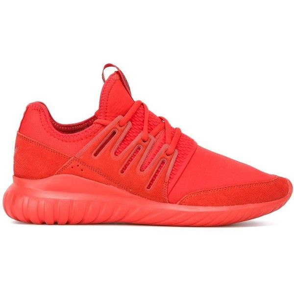 adidas red shoes. adidas \u0027tubular radial\u0027 sneakers ($105) ❤ liked on polyvore featuring men\u0027s fashion, shoes, sneakers, red, mens lace up red shoes 2