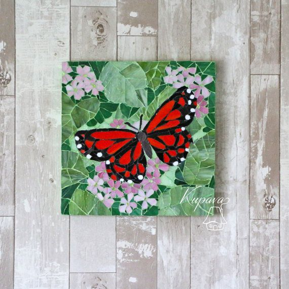 Made to order.  Butterfly. Beautiful Mosaic. Wall mosaic decor. Mosaic Art. Wall Art Gift. Home decor