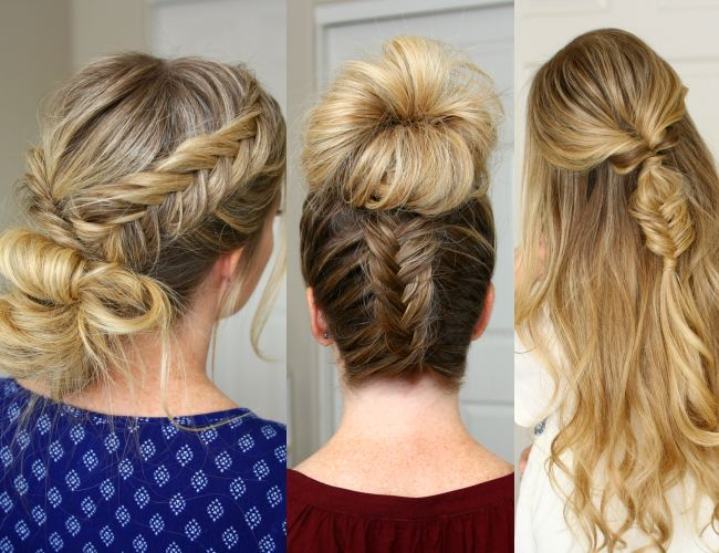 3 Fishtail Braid Hairstyles