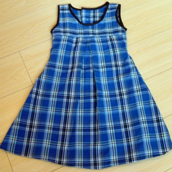 """re purposed dress-shirt toddler dress """"the Rylee"""" is 18m"""