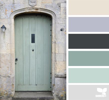 These soft, powdery tones lend themselves to a high Intimacy or Transparency value.| a door tones via Design-Seeds | commentary via The Voice Bureau at AbbyKerr.com