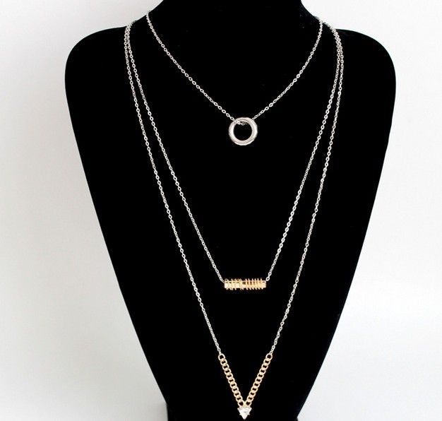 Triple Layer Pendant Necklace