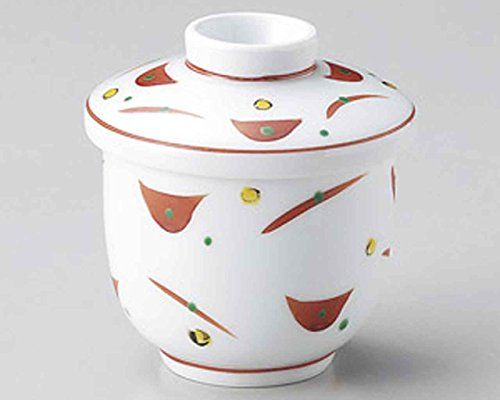 Akae Dots 7.3cm Satz von 10 Small Bowls with cover White porcelain Japanisch traditionell
