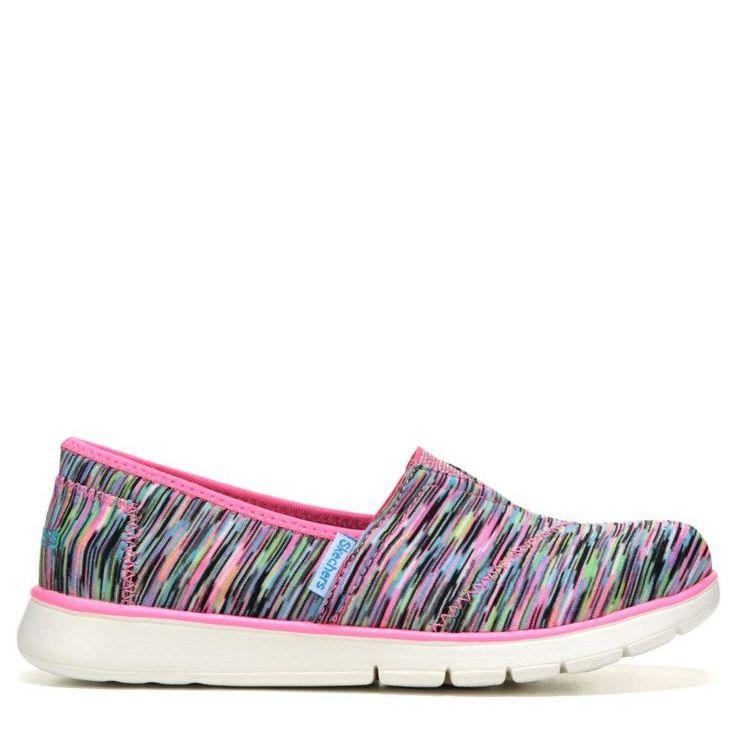 Skechers Kids' Pure Flex Memory Foam Slip On Sneaker Pre/Grade School Shoes (Pink/Multi) - 11.0 M