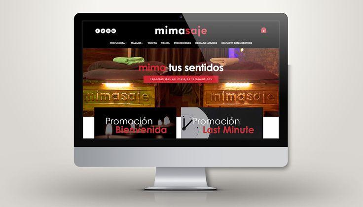 Nuevo diseño web para mimasaje - Centro de masaje terapéutico #web #webdesign #laende #mimasaje #masaje #barcelona