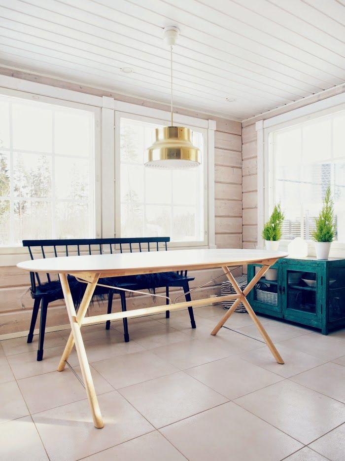 Tarja's Snowland: UUSI RUOKAPÖYTÄ | NEW DINING TABLE