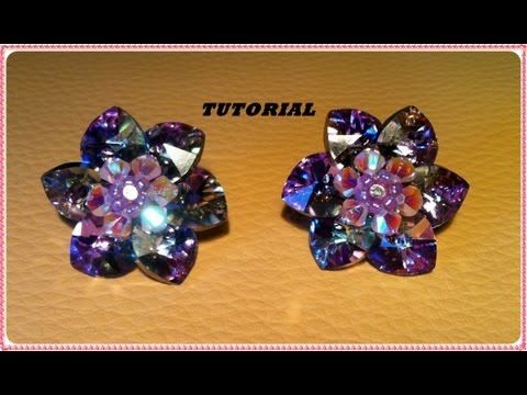Crystal Flower Component / Pendant - YouTube