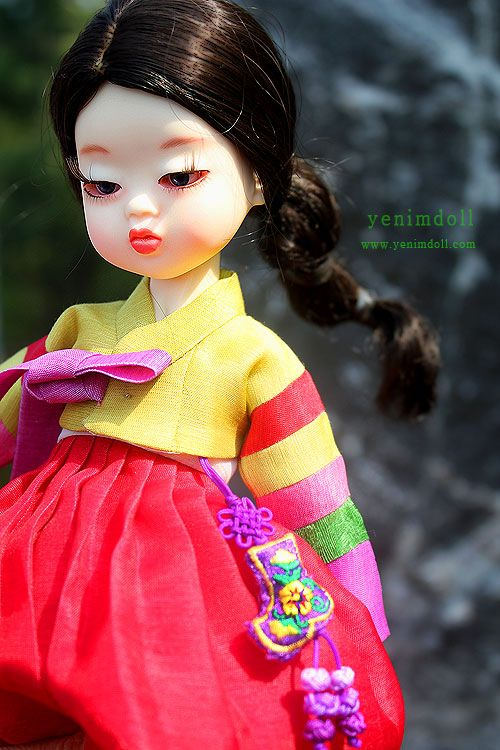 korea bjd doll yenimdoll doll name is danyi yenimdoll's usd doll (26cm) korea traditional dress hanbok http://www.yenimdoll.com
