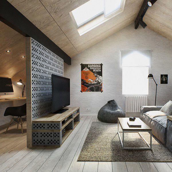 Die besten 25+ Tv wand für dachschräge Ideen auf Pinterest - schlafzimmer modern wandschrge