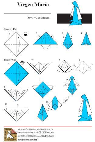 como hacer un belén en origami - Buscar con Google