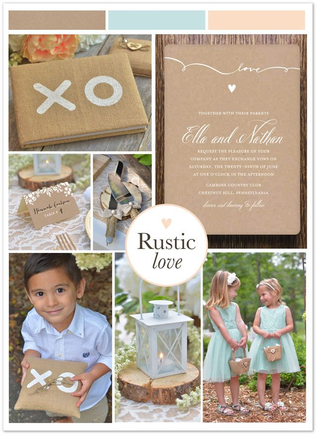 Rustic Charm And Lasting Love Go Hand In These Script Wedding Invitations Are