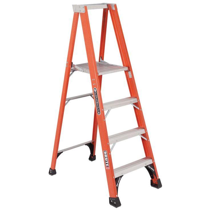 4 ft. Fiberglass Platform Step Ladder with 375 lbs. Load Capacity Type IAA Duty Rating