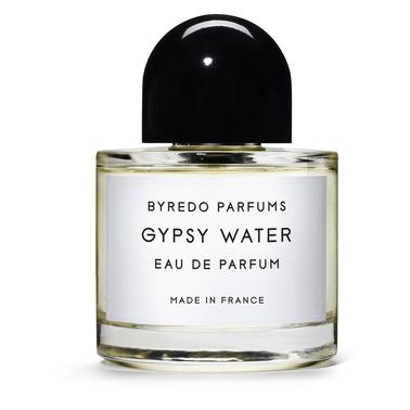 Byredo Parfums The Gypsy Water story opens with a vibrant burst of Bergamot, lemon, pepper and juniper berries, followed by a radiant heart of incense layered over evergreen pine needles and orris.