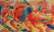 The City Rises 1911  by Umberto Boccioni