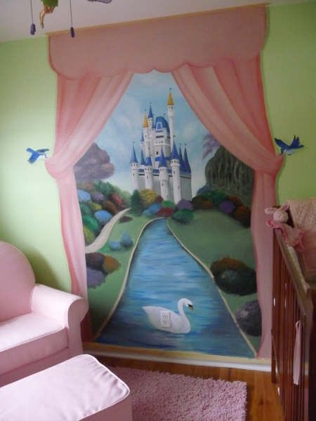 1000 ideas about princess mural on pinterest murals for Disney princess ballroom mural