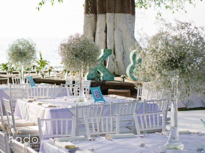 Centro de mesa de boda. Wedding centerpice
