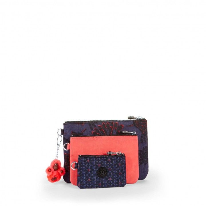 IAKA PRINTED Floral Night POUCHES / CASES by Kipling Front