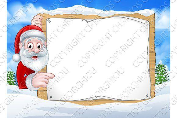 Santa Christmas Sign Background by Christos Georghiou on @creativemarket