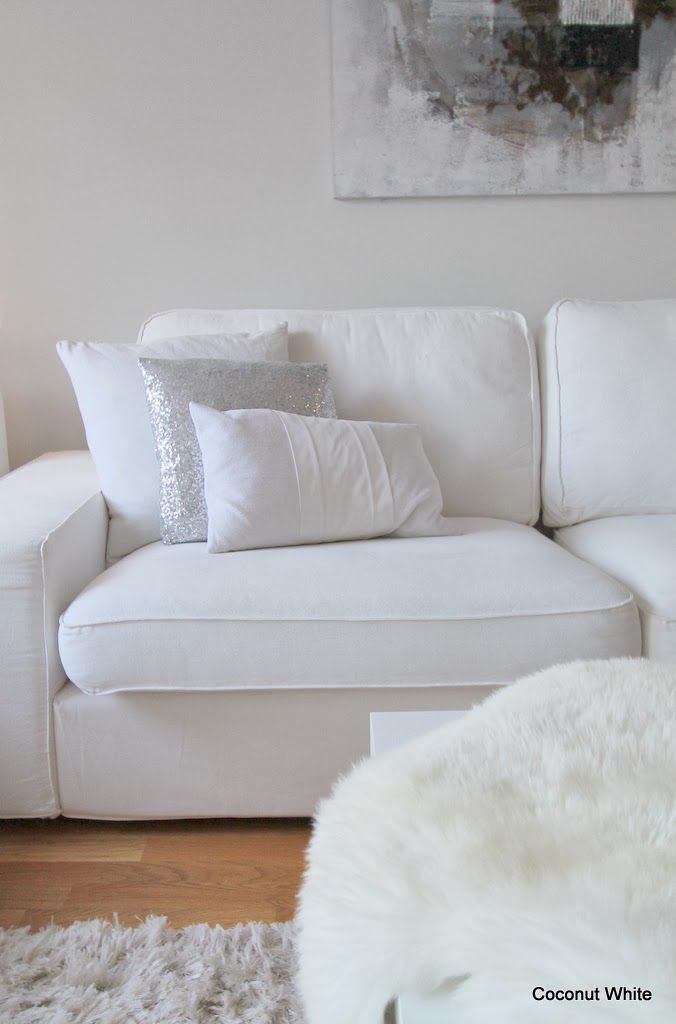 Coconut White Ikea Kivik sofa white