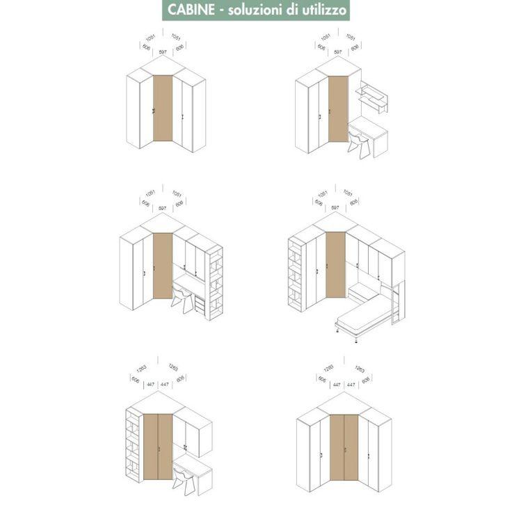 Oltre 1000 idee su armadio angolare su pinterest armadio conservazione borsa e asticella dell - Cabina armadio angolare misure ...