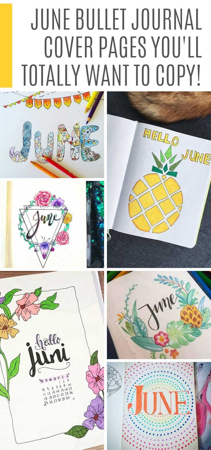 11 Bullet Journal June Cover Page Ideas + Plan With Me Videos