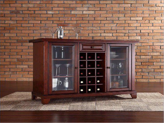 Locking Liquor Cabinet