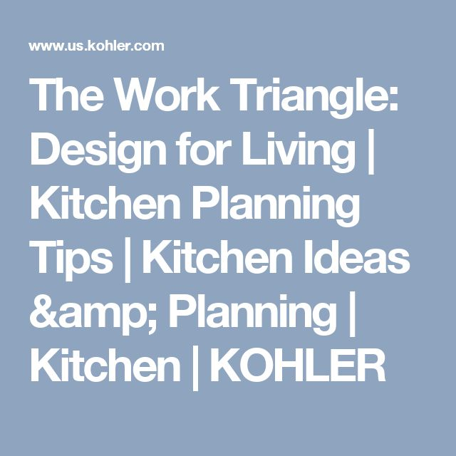 Triangle Kitchen Design: The Work Triangle: Design For Living